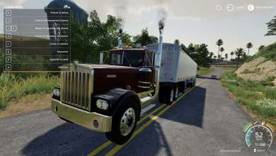 Photo de Les 650 CV du Kenworth W900A disponible sur Farming Simulator 19
