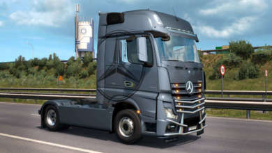 Photo de ETS 2 : L'Actros se maquille avec un tuning pack